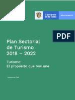 Plan Sectorial de Turismo 2018-2022