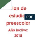 Plan de Estudio Preescolar 2019