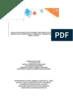 Evaluación Aspecto Económico Del Proyecto