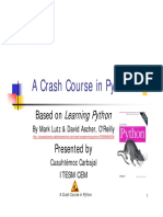 Crash Course Python Part i