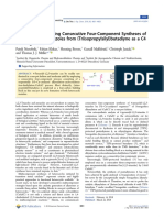 De Novo Ring-Forming Consecutive Four-Component Syntheses Of