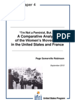 ''I'm Not a Feminist, But…'', a Comparative Analysis of the Women's Movement in the United States and France
