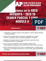 2019 1B Rol de Examenes Parcial y Final Modulo II