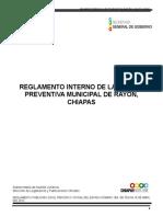 Reglamento Interno de La Policia Preventiva Municipal de Rayon, Chiapas