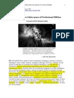 Pensamiento Crítico para el Profesional Militar