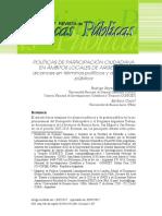 POLÍTICAS DE PARTICIPACIÓN CIUDADANA EN ÁMBITOS LOCALES DE ARGENTINA-