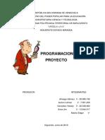 Programacion de Proyecto