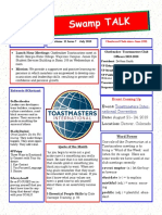 Swamp Talk, Okefenokee Toastmasters Club newsletter, July 2019