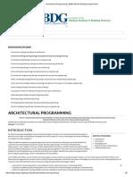 Architectural Programming _ WBDG Whole Building Design Guide