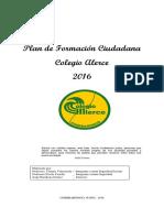Plan de Formación Ciudadana 2016