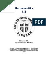 Diktat Hermeneutika (1) 2019 Stt Kingdom