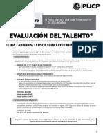 Evaluación Del Talento 2019 1
