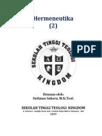 Diktat Hermeneutika (2) 2019 Stt Kingdom
