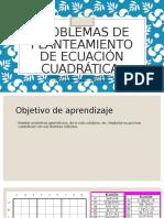 Problemas de Planteamiento de Ecuación Cuadrática