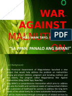 Maguidanao War Against Malnutrition Project 1