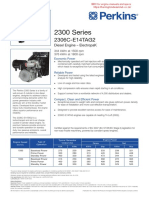 Perkins 2306 Genset Spec Sheet