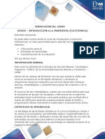 Presentacion Del Curso Introducción a La Ingeniería (Electrónica)