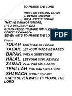 Seven Ways to Praise the Lord (1)