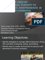 Strategies Used by Occupational Therapy to Maximize ADL Independence