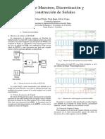 Teoría de Muestreo,Discretización, y Reconstrucción de Señales