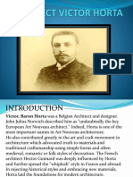 Architect Victor Horta