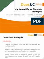 Control y Supervision en Obras de Hormigon