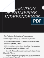 Declaration of Philippine Independence