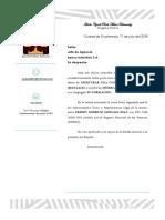carta de solicitud de apertura de cuenta S.A