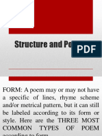 Structure and Poetry