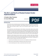 The Do%27s and Don%27ts of Hosted Contact Center Implementations - Ovum White Paper1