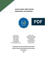 Analisis Jurnal Kmb II Secara Internasional Dan Nasional