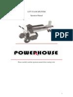 Powerhouse Log Spliiter Manual
