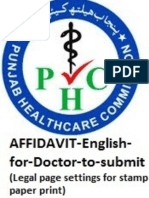 PHC AFFIDAVIT English for Doctor to Submit June2019(Legal Page Settings for Stamp Paper Print)
