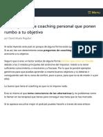 25 Preguntas de Coaching Personal Poderosas Que Te Acercan a Tu Objetivo