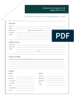 FA 2019 Ais Ib Scholarship Application Form