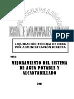 liquidación de obra por administración directa