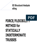 4. Force Method - Trusses