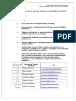 2. INIDCACIONES. Taller de Introducción Al Uso de Software Estadístico.