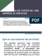 Estructura de Costos de Una Empresa Se Servicios