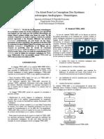 VHDL-AMS  Un Atout Pour La Conception Des Systèmes