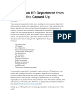Starting an HR Department From the Ground Up