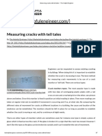Measuring Cracks With Tell Tales – the Helpful Engineer