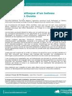 Communiqué NCTPS - Attaque Ouvéa
