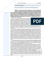 Decreto 73-2019 Modificación Decretos Clases Especialidad de Cada Cuerpo Funcionarios Aragón