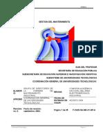 Manual gestión del mantenimiento
