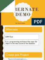 Hibernate Demo with xml