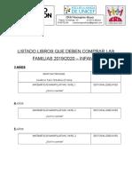 Listado de LIBROS 2019-2020