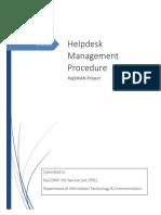 Helpdesk Management  Procedure