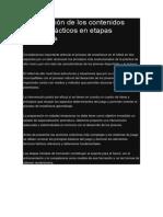 Planificación de Los Contenidos Técnicos Tácticos en Etapas Formativas