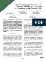 Monitoring of Highway Wind Power Parameter